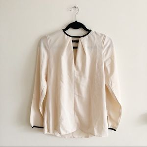 Blush/Cream Sheer Blouse Sz UK10 FR38